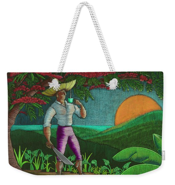 Weekender Tote Bag featuring the painting Amanecer En Borinquen by Oscar Ortiz