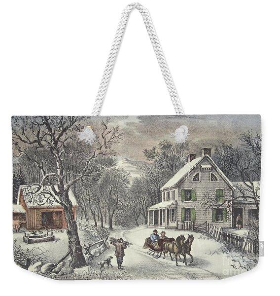 American Homestead   Winter Weekender Tote Bag