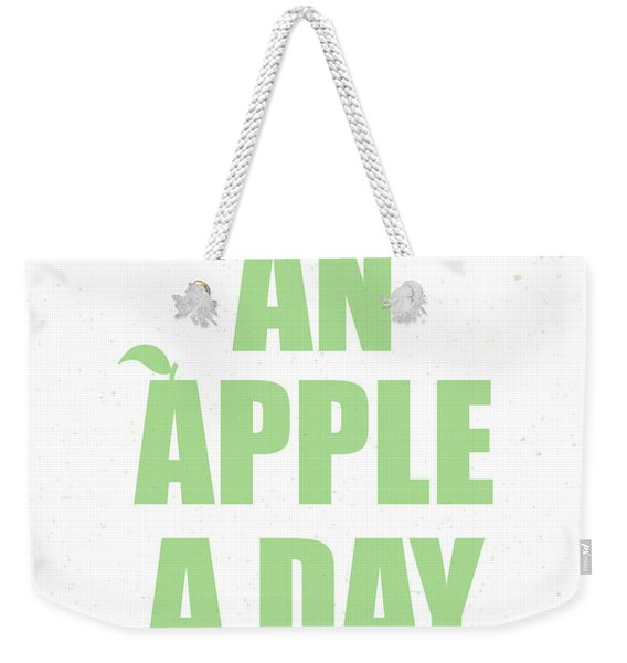 An Apple A Day Weekender Tote Bag