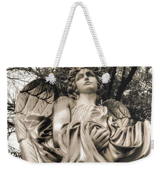 Angel In The Fall Weekender Tote Bag