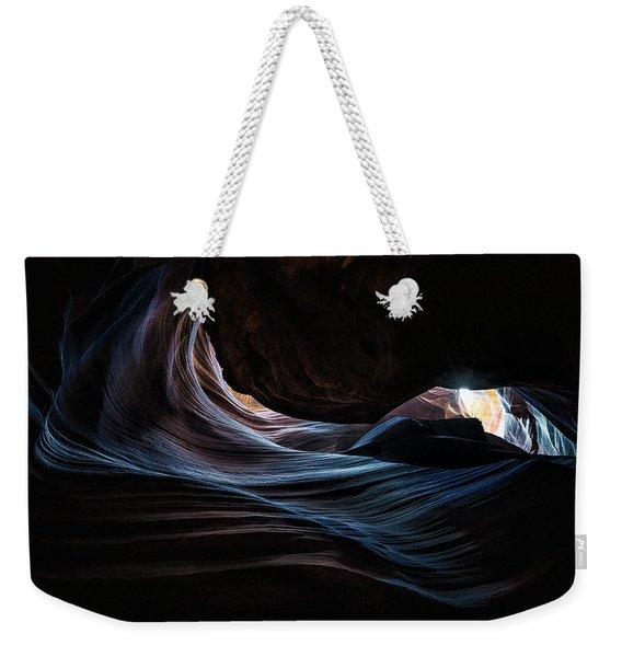 Antelope Canyon Blue Weekender Tote Bag