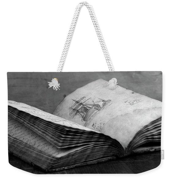 Antique Notebook Weekender Tote Bag