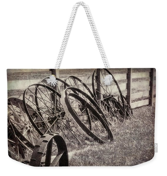 Antique Wagon Wheels I Weekender Tote Bag