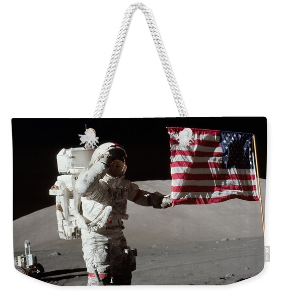 Apollo 17 Astronaut Salutes The United Weekender Tote Bag
