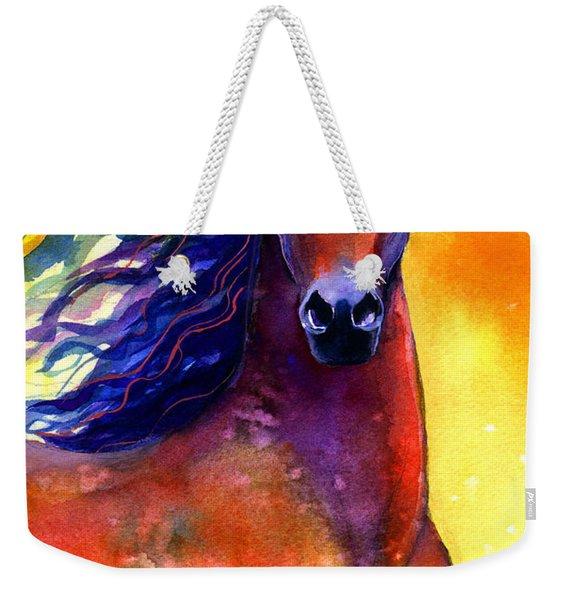 Arabian Horse 1 Painting Weekender Tote Bag