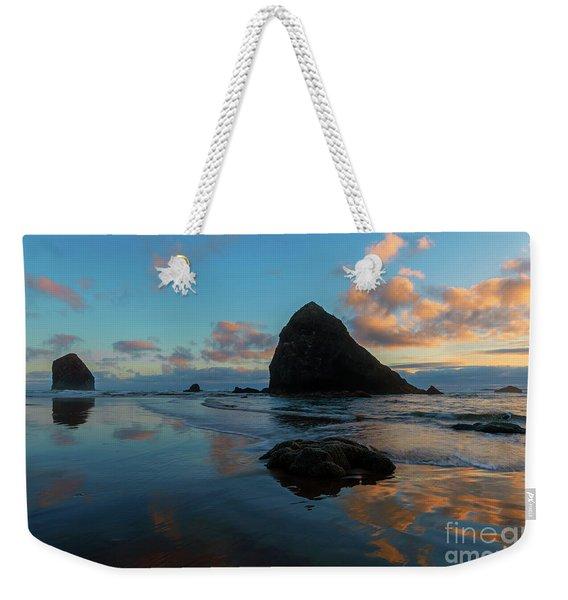 Arcadia Beach Reflections Weekender Tote Bag