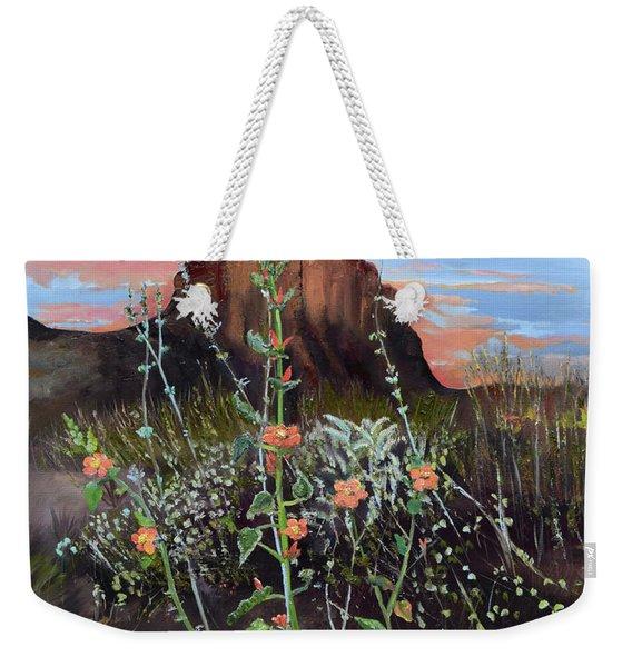 Arizona Desert Flowers-dwarf Indian Mallow Weekender Tote Bag