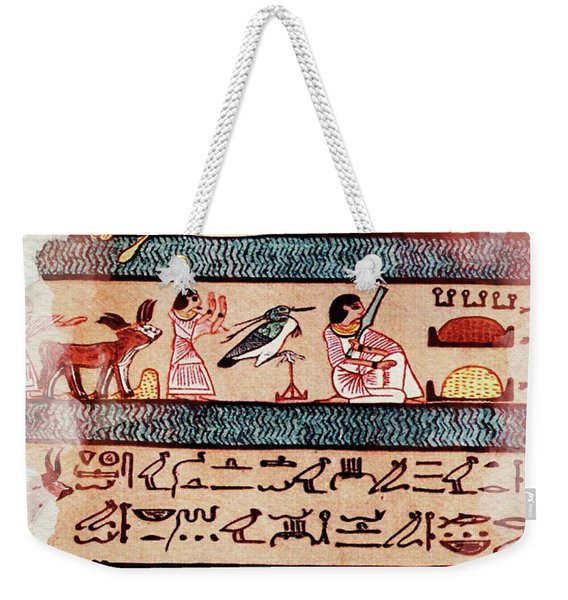 Art Of Ancient Egypt Weekender Tote Bag