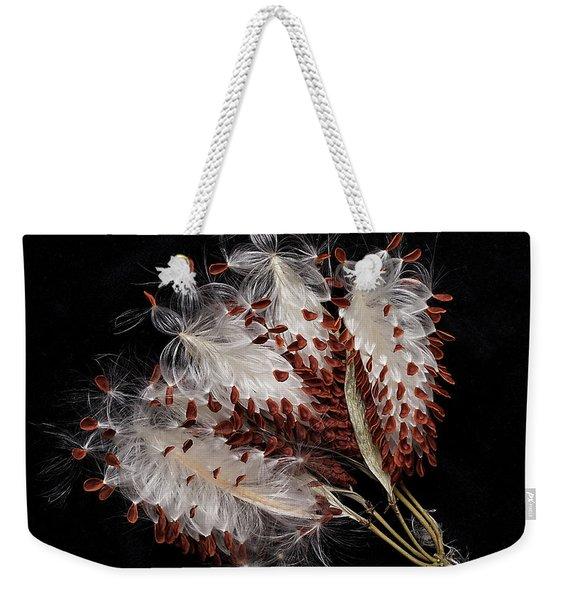 Asclepias Currasavica--seed Pod Weekender Tote Bag