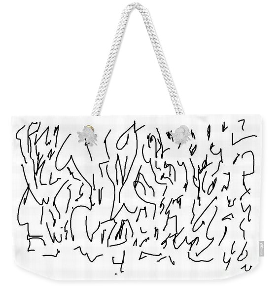 Asemic Writing 01 Weekender Tote Bag