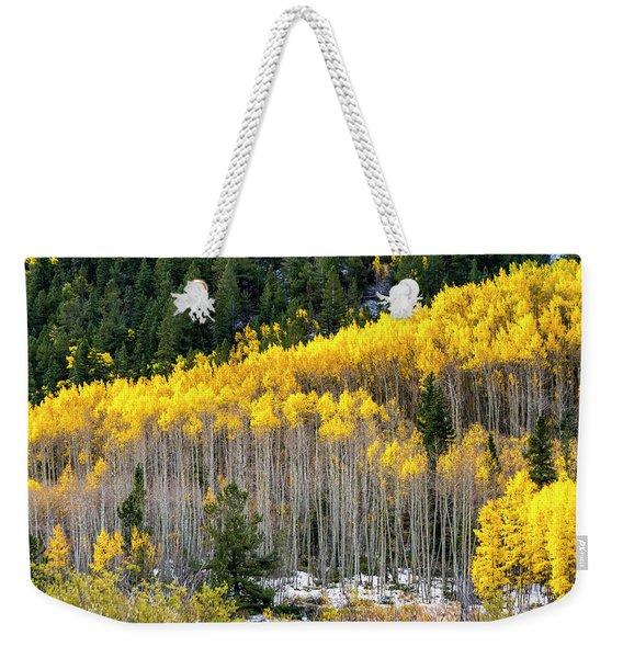 Aspen Trees In Fall Color Weekender Tote Bag