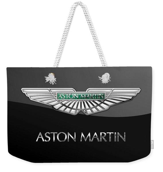 Aston Martin 3 D Badge On Black  Weekender Tote Bag