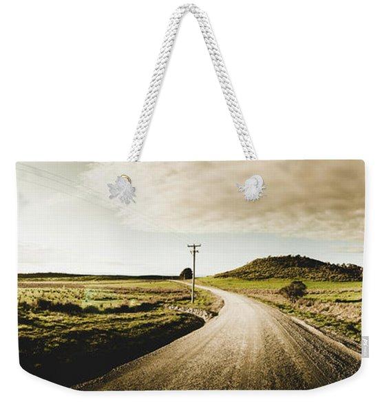 Australian Rural Road Weekender Tote Bag
