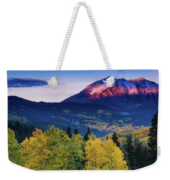 Autumn Alpenglow Weekender Tote Bag