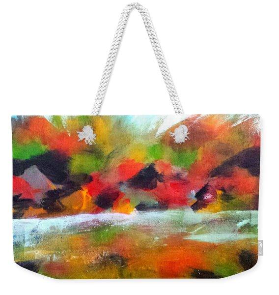 Autumn Blaze Weekender Tote Bag