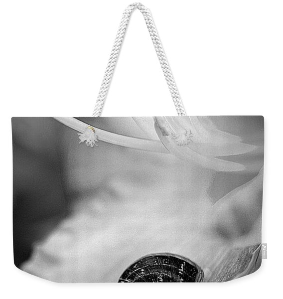 B And White Floral With Snail Weekender Tote Bag