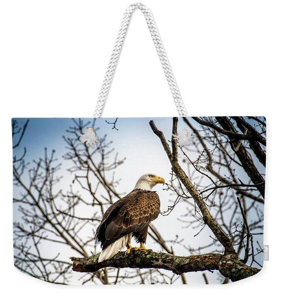 Bald Eagle Majesty Weekender Tote Bag