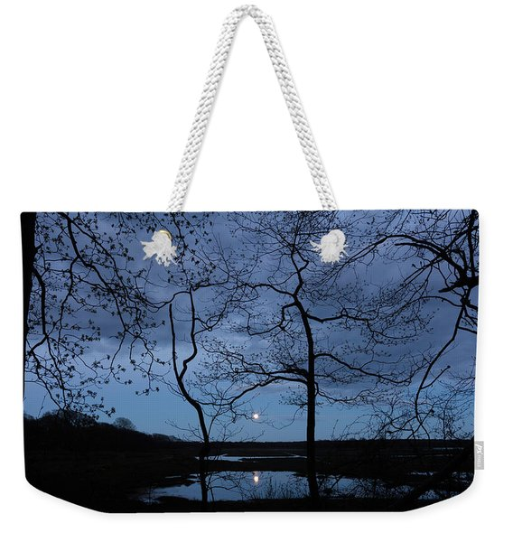 Barn Island Moonrise Weekender Tote Bag