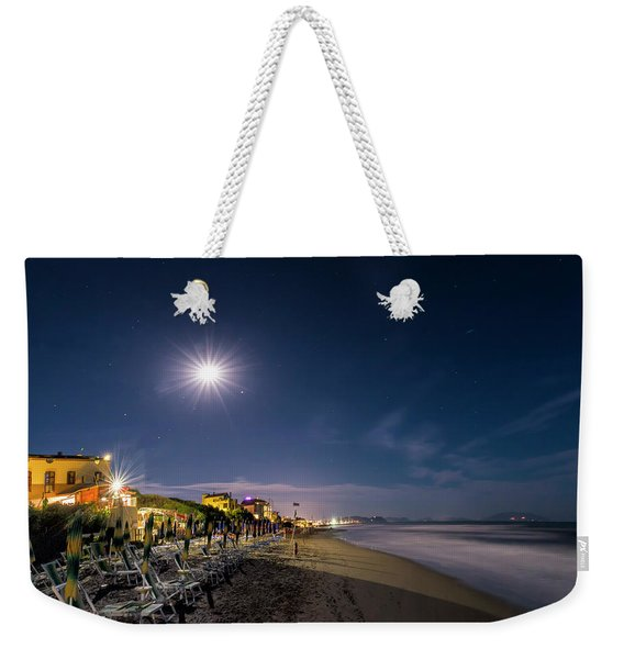 Beach At Night - Spiaggia Di Notte Weekender Tote Bag