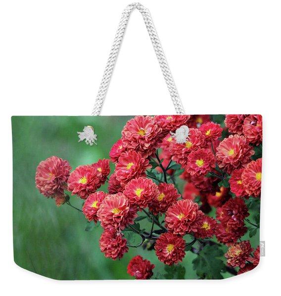 Beautiful Red Mums Weekender Tote Bag