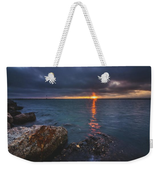 Weekender Tote Bag featuring the photograph Beautiful Sunset At Marina Del Rey by Andy Konieczny