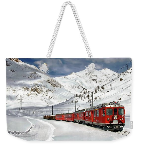 Bernina Winter Express Weekender Tote Bag