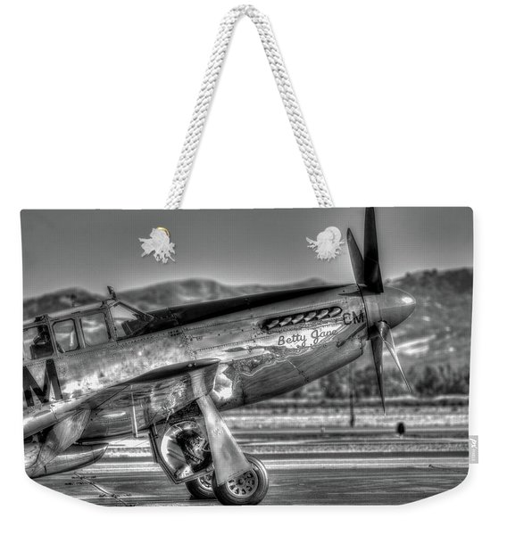 Betty Jane P51d Mustang At Livermomre Weekender Tote Bag