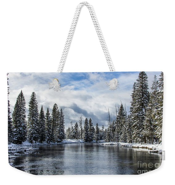 Big Springs In Winter Idaho Journey Landscape Photography By Kaylyn Franks Weekender Tote Bag
