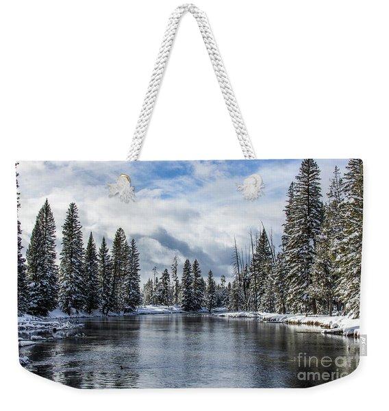 Big Springs In Winter Idaho Journey Landscape Photography By Kaylyn Franks Weekender Tote Bag