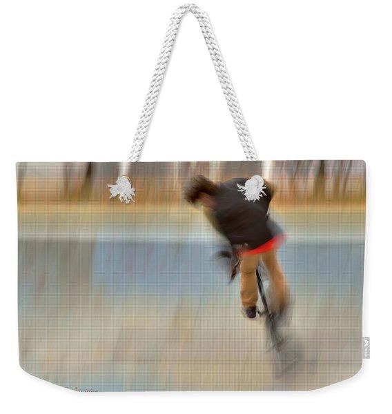 Biking  The Skateboard Park 4 Weekender Tote Bag