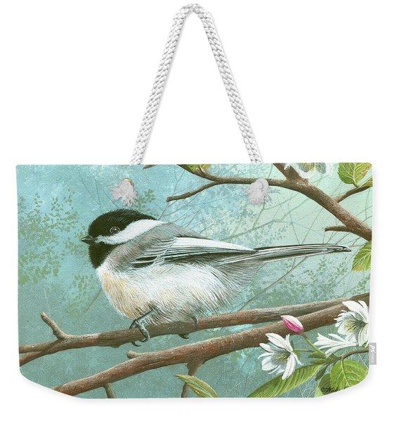 Black Cap Chickadee Weekender Tote Bag