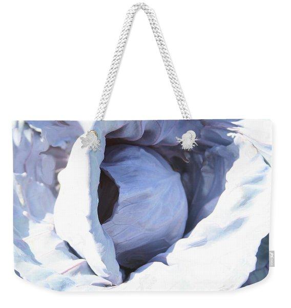 Blue Cabbage Weekender Tote Bag