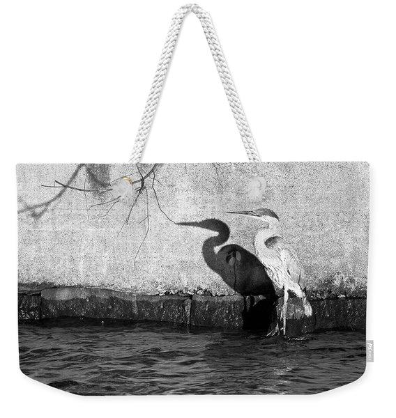 Blue Heron Shadow Weekender Tote Bag