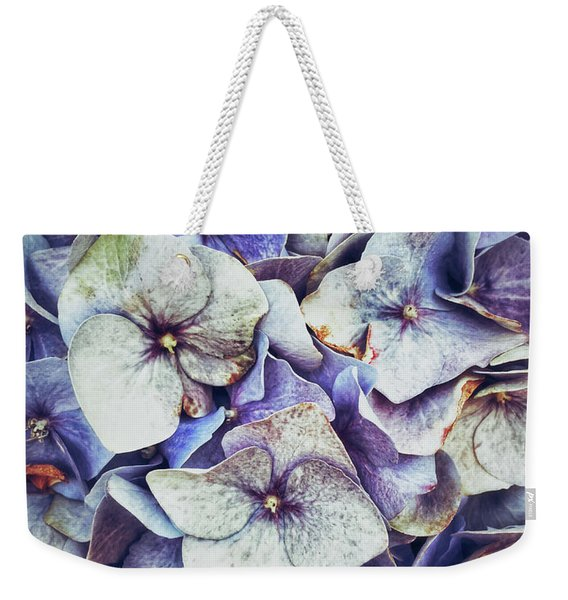 Blue Hydrangeas Background  Weekender Tote Bag