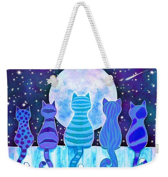Blue Moon Cats Weekender Tote Bag