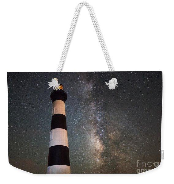Bodie Island Lighthouse Milky Way Weekender Tote Bag