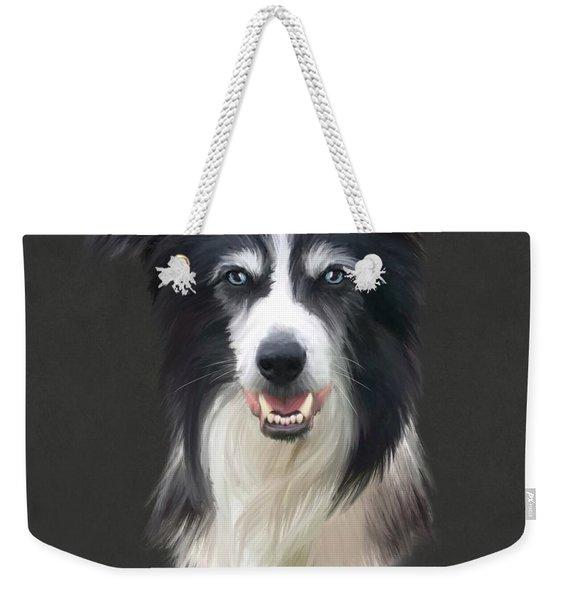 Border Collie Weekender Tote Bag