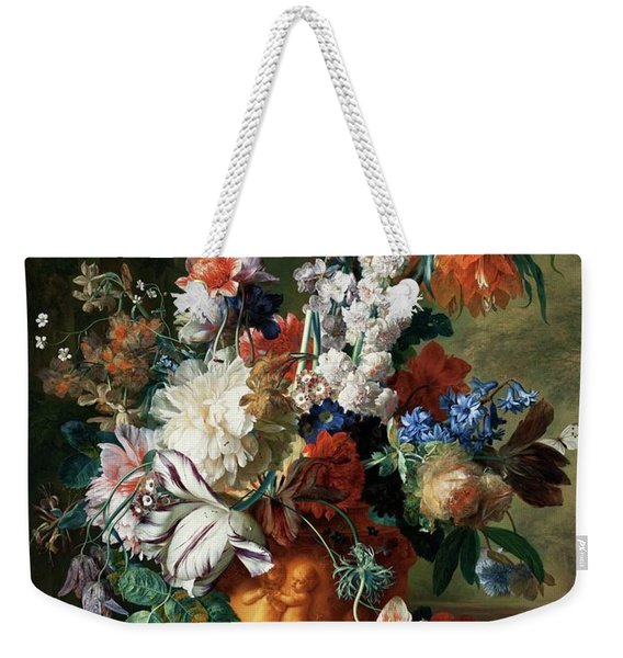 Bouquet Of Flowers In An Urn Weekender Tote Bag