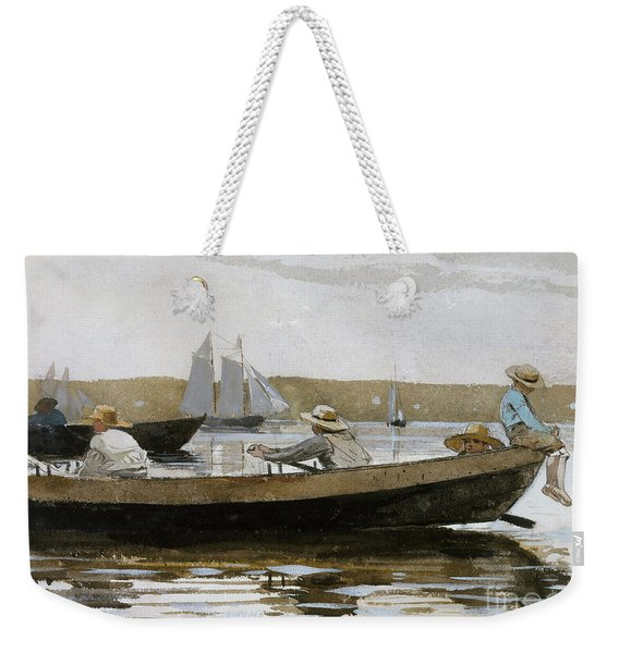 Boys In A Dory, 1873  Weekender Tote Bag