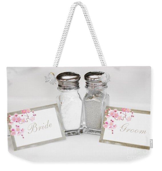 Bride And Groom Weekender Tote Bag