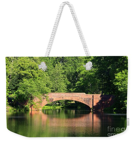 Bridge Reflection In The Spring Weekender Tote Bag