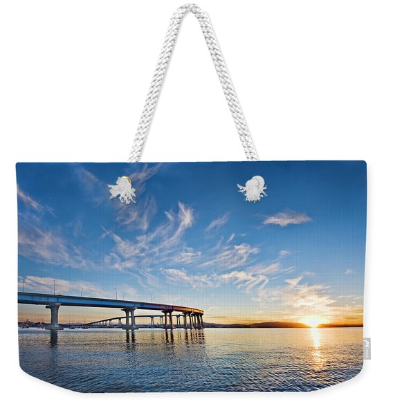 Bridge Sunrise Weekender Tote Bag