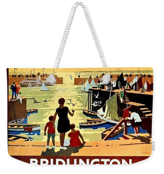 Bridlington Port, Yorkshire,great Britain, Travel Poster  Weekender Tote Bag