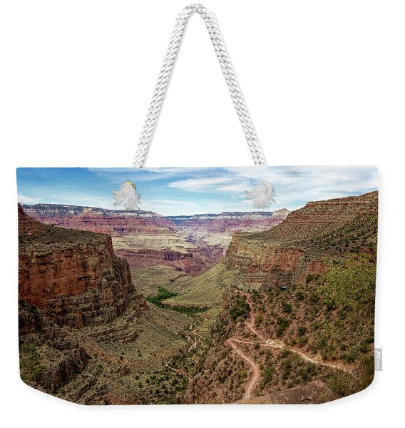 Bright Angel Trail From The South Rim, Grand  Canyon Weekender Tote Bag