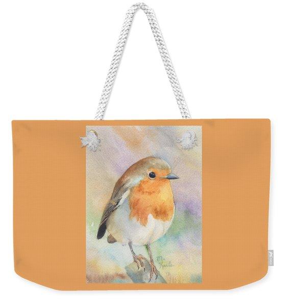British Robin Weekender Tote Bag