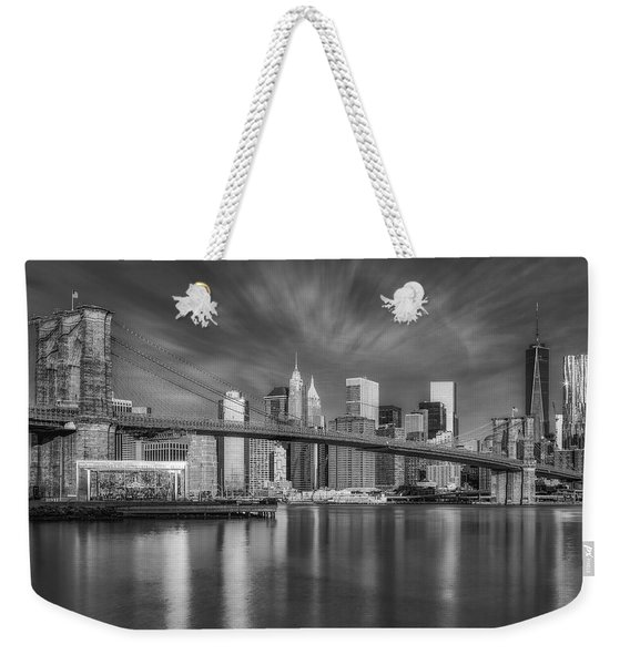 Brooklyn Bridge From Dumbo Weekender Tote Bag