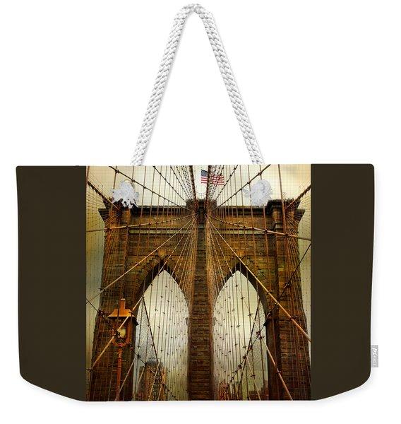 Brooklyn Bridge Twilight Weekender Tote Bag