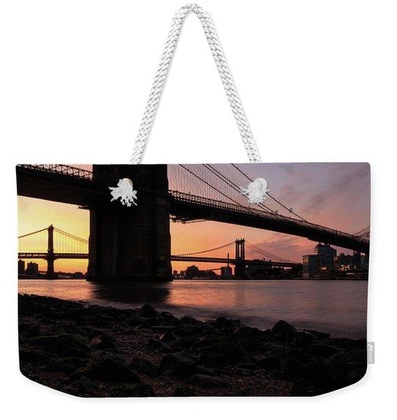 Brooklyn Sunrise Weekender Tote Bag