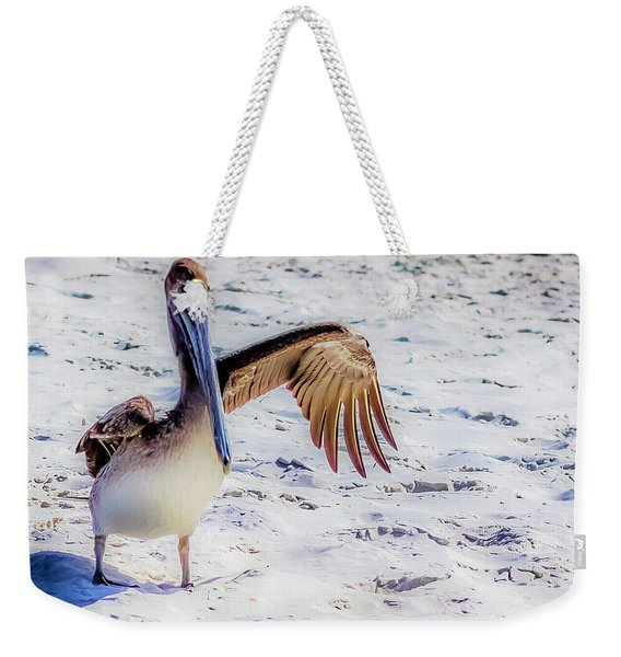 Brown Pelican Wave Weekender Tote Bag
