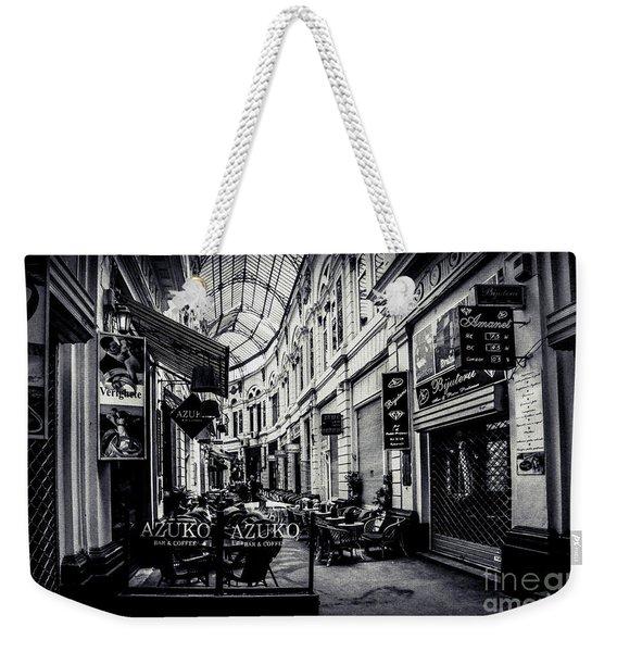 Monochrome Bucharest  Macca - Vilacrosse Passage Weekender Tote Bag